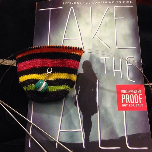 @javajennie asked #widn. Just finished a stripe repeat on my #thesecondannualdvdmonthlysockclub socks in The Westing Game colorway. Going to put them down and go read in bed. #dvdinstagram2016mrsshoo