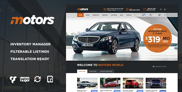 Themeforest Motors v1.3.1 - Car Dealership WordPress Theme