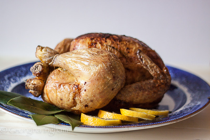 Georgina Ingham Culinary Travels - Photograph Lemon and Herb Roast Chicken