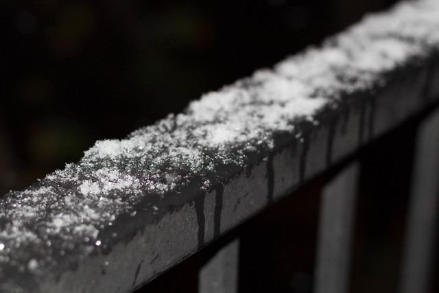 Frost on the rail