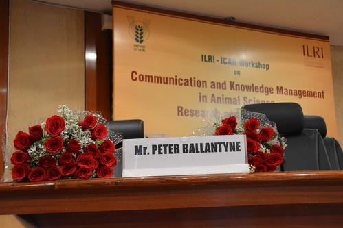ICAR-ILRI Communications Workshop was organized and facilitated by Peter Ballantyne