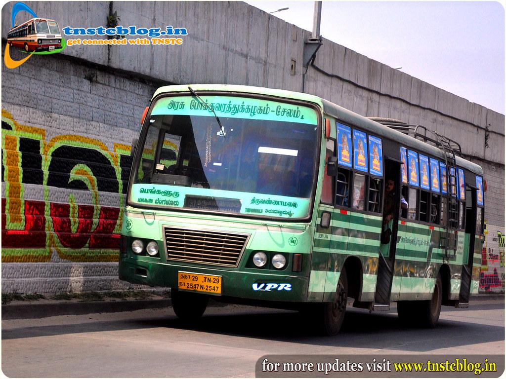 TN29N.2547 Of Tnstc Salem Dharmapuri Region Krishnagiri Puranagar Depot  Route Bangaluru-Tiruvannamalai