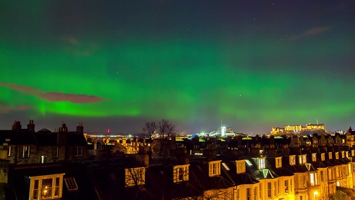 Aurora Borealis over Edinburgh Castle