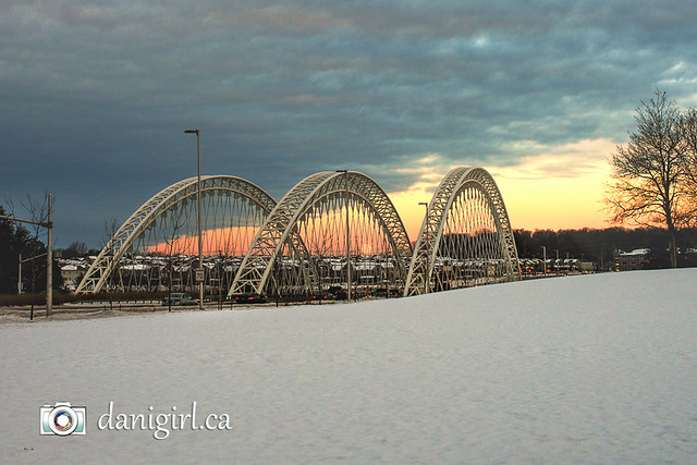Moonset over Barrhaven and the Strandherd Bridge