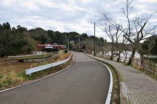 坂田ケ池の築堤痕跡