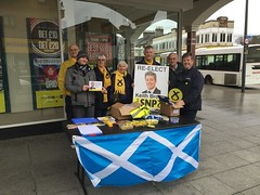 Keith Brown on the campaign trail, Scottish Parliament Elections 2016