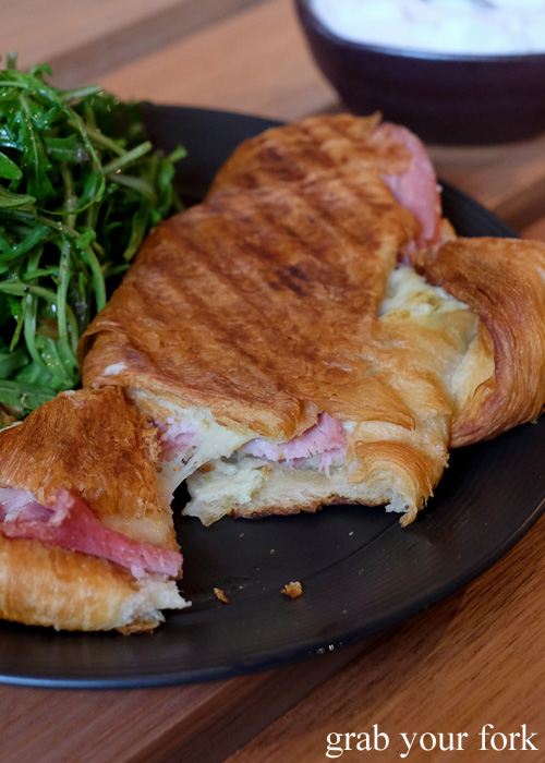 Stretch gruyere cheese in the Barry Croquer croissant at Abbots and Kinney, Adelaide