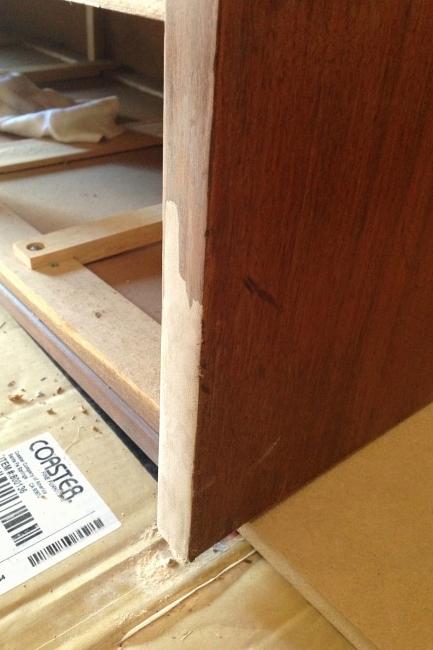 Dresser, missing chunk