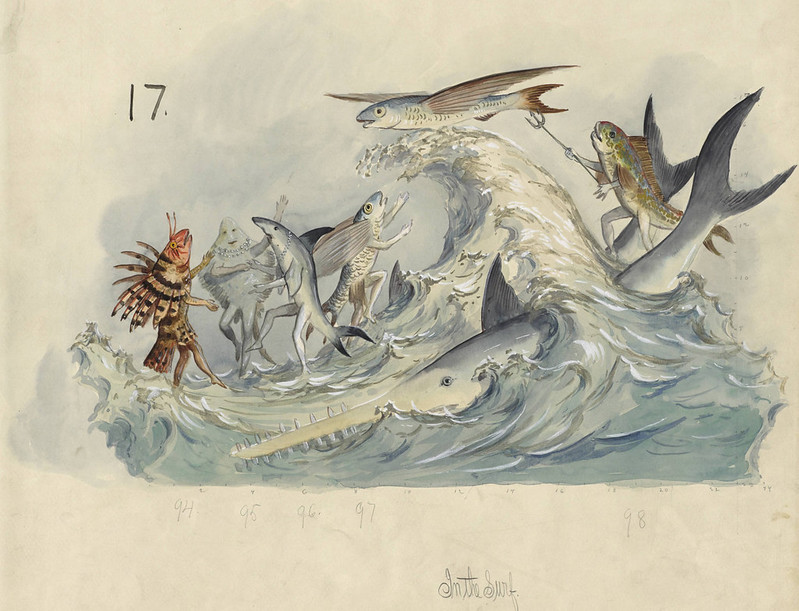 Carlotta Bonnecaze - In The Surf, float design from Krewe of Proteus, 1896