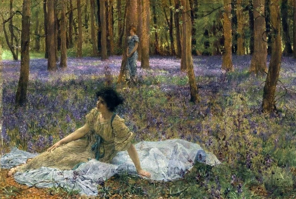 Bluebells by Sir Lawrence Alma-Tadema, 1899