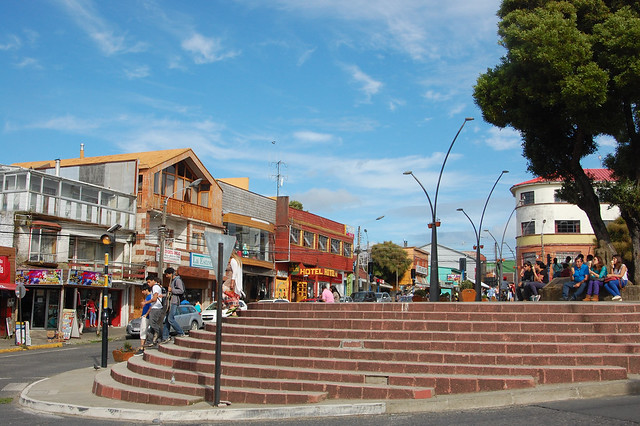 Plaza in Ancud, Chiloé, Chile