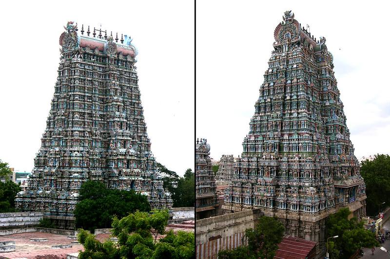 Gopuras del Templo de Sri Meenakshi