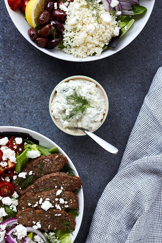 Greek Lamb Gyro Bowls with Tzatziki