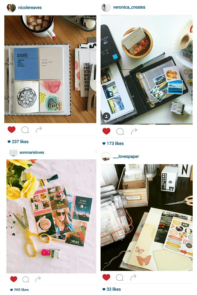 five on friday (some pretty paper crafting spaces on instagram)
