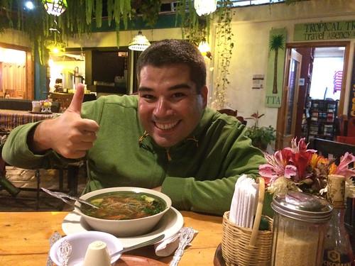 Panajachel: nous avons trouvé de la nourrtiure asiatique!