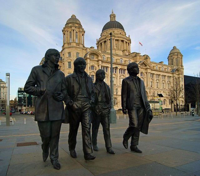 Walking to the Mersey ferry