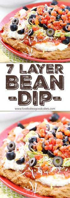 The classic 7 Layer Bean Dip - just like you remember it! It's great for fiestas, potlucks, game day entertaining - or anytime you need a delicious and easy idea that is a real crowd-pleaser! #FlavorYourFiesta #ad