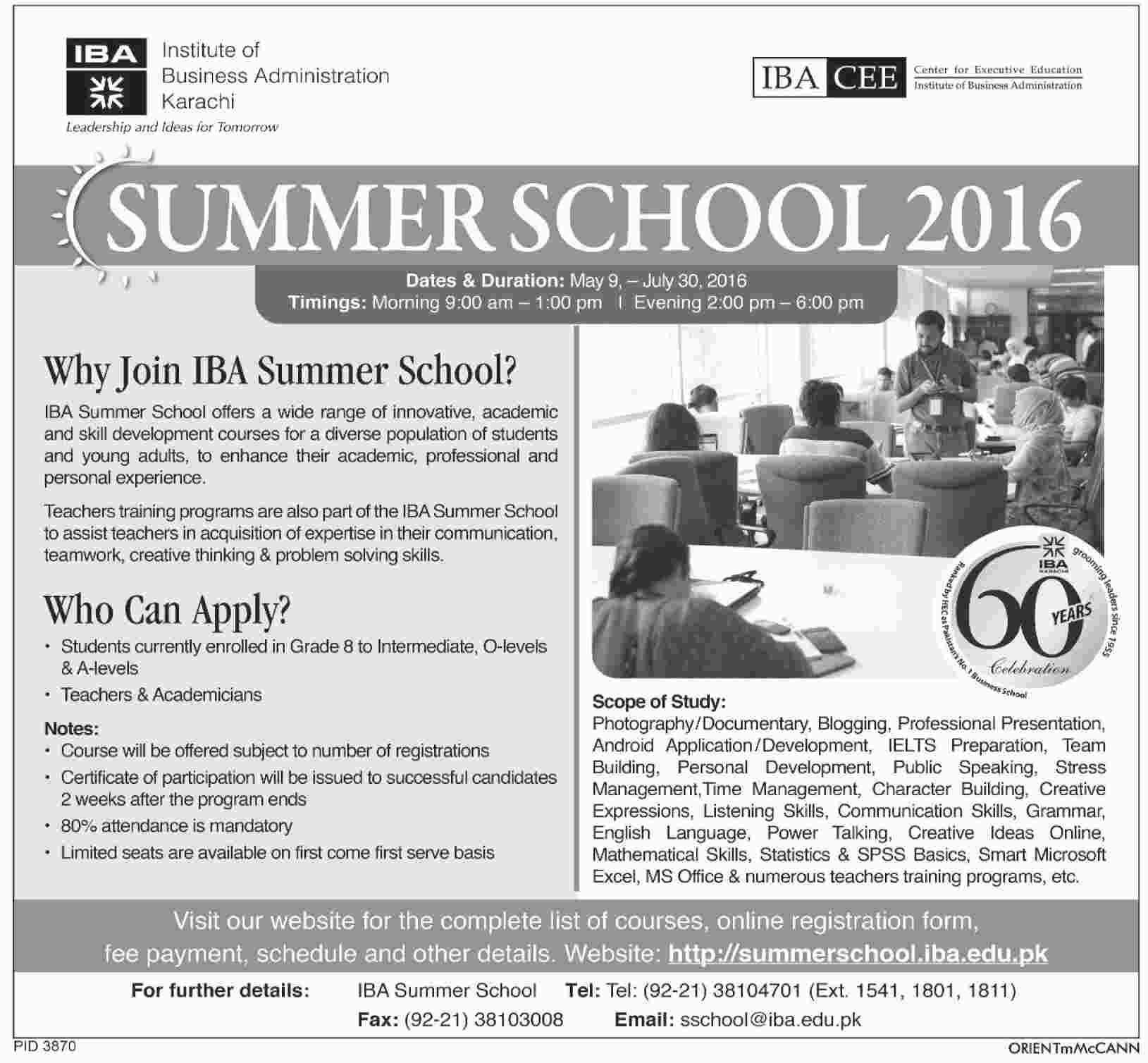 IBA Summer School 2016