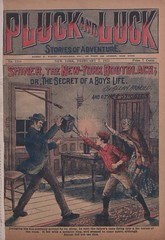 """Shiner, the New-York bootblack, or, The secret of a boy's life"" in Pluck and luck, no. 1288"