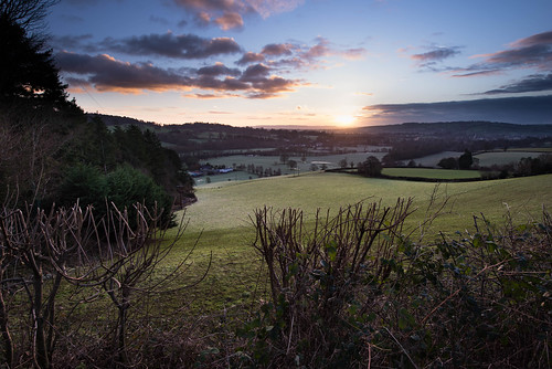 sunrise landscape devon