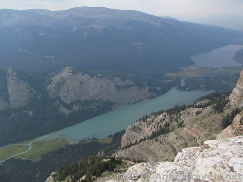 The Green River Lakes from near the summit of White Rock, Wind River Lakes, Wyoming