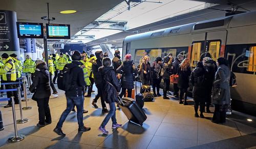 DSB ID kontroll flygplatsen i Kastrup_20160104_0201