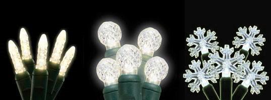 LED Lights: Dreamin' of a Green Christmas, LED Holiday Lights, LED Christmas Lights, LED White Christmas Lights, Warm White LED Christmas Lights, LED Xmas Lights
