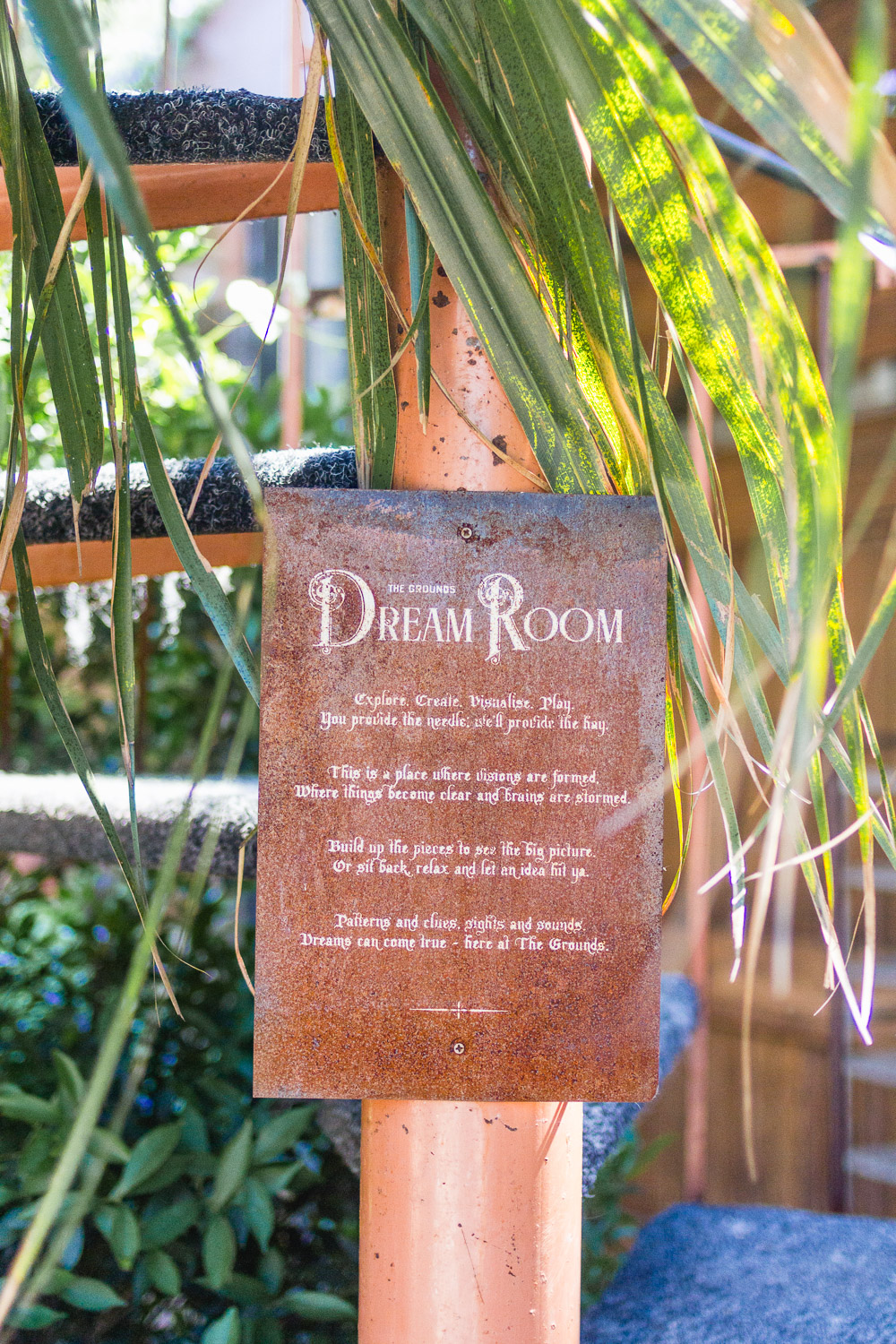 the grounds of alexandria dream room sign