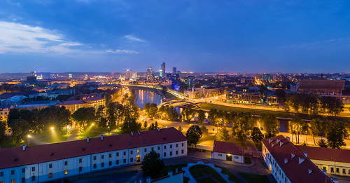 Vilnius_Modern_Skyline_At_Dusk,_Lithuania_-_Diliff