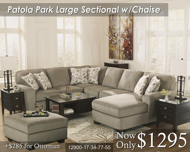 Patola Park Large wChaise : ashley furniture patola park sectional - Sectionals, Sofas & Couches