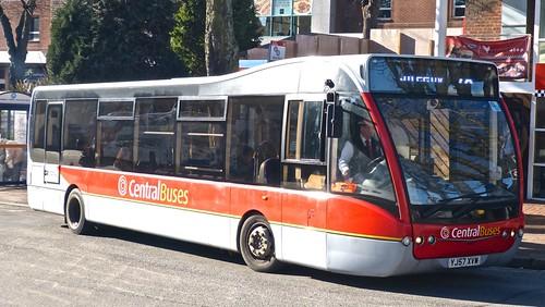 Central Buses Optare Versa V1100 YJ57 XVW