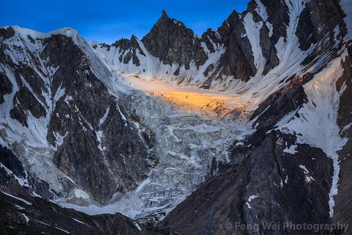 travel pakistan wild mountain horizontal landscape outdoors dawn asia glacier karakoram kashmir pk alpenglow colorimage snowypeak karakoramrange indiansubcontinent baintha snowlaketrek gilgitbaltistan remoteposition centralkarakoramnationalpark
