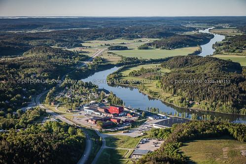 3 sverige swe västragötaland götaälv göta flygfoto götaslätten