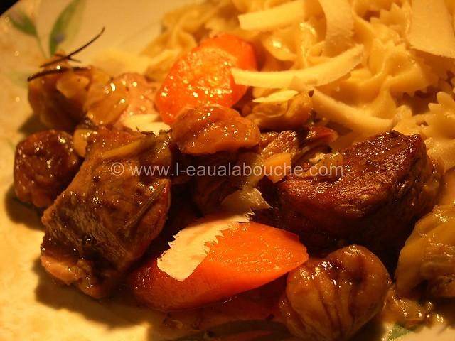 Veau Braisé Au Jurançon Légumes & Chataignes © Ana Luthi Tous droits réservés 12
