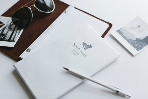 Bull & Stash Leather Notebook with Refill
