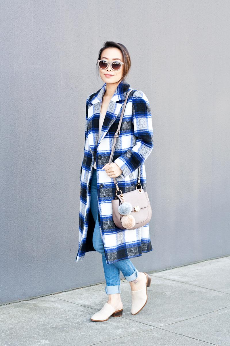 06plaid-checkers-coat-denim-mules-pompoms-sf-style-fashion