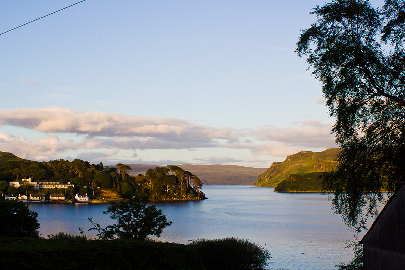 Sunset on Loch Portree