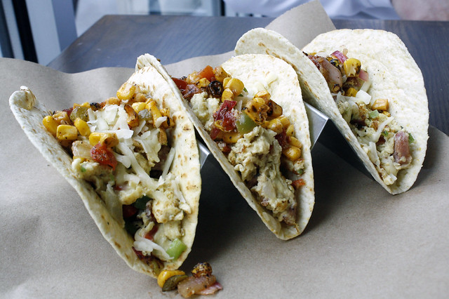 Breakfast Tacos at World of Beer
