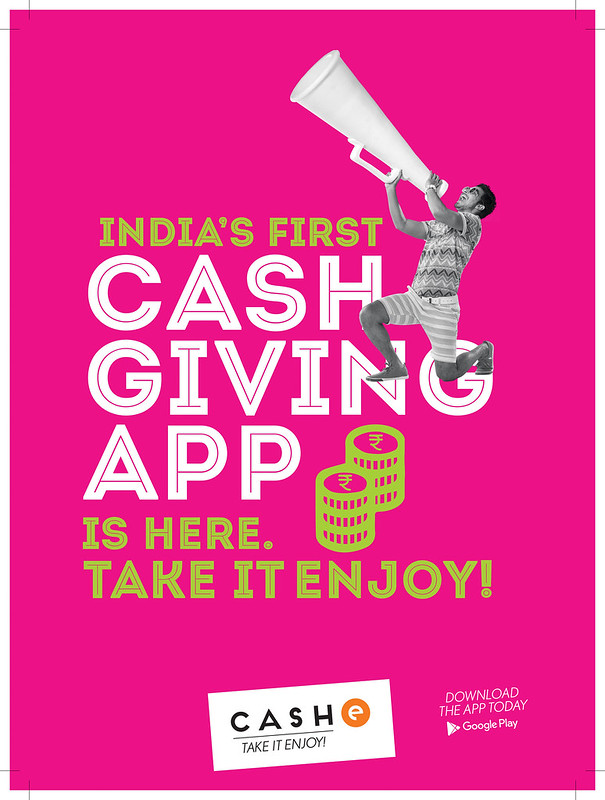 India's first cash giving app- Take it Enjoy