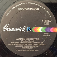 VAUGHAN MASON:JAMMIN BIG GUITAR(LABEL SIDE-A)