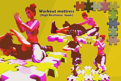 [HD]Workout mattress(High Resilience foam)wip