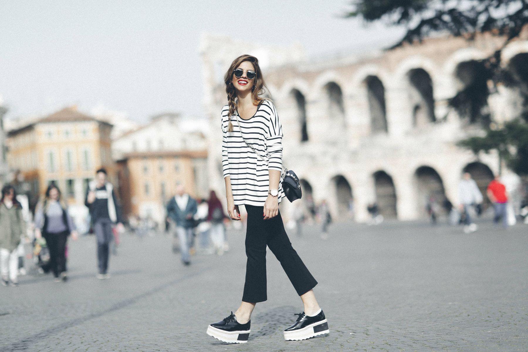 outfit look primavera spring rayas stripes zara mango valentino bolso bag blazer rayban verona street style trendy taste_1
