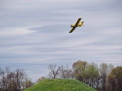 Crop Duster over the Toltek Mounds State Park, Arkansas