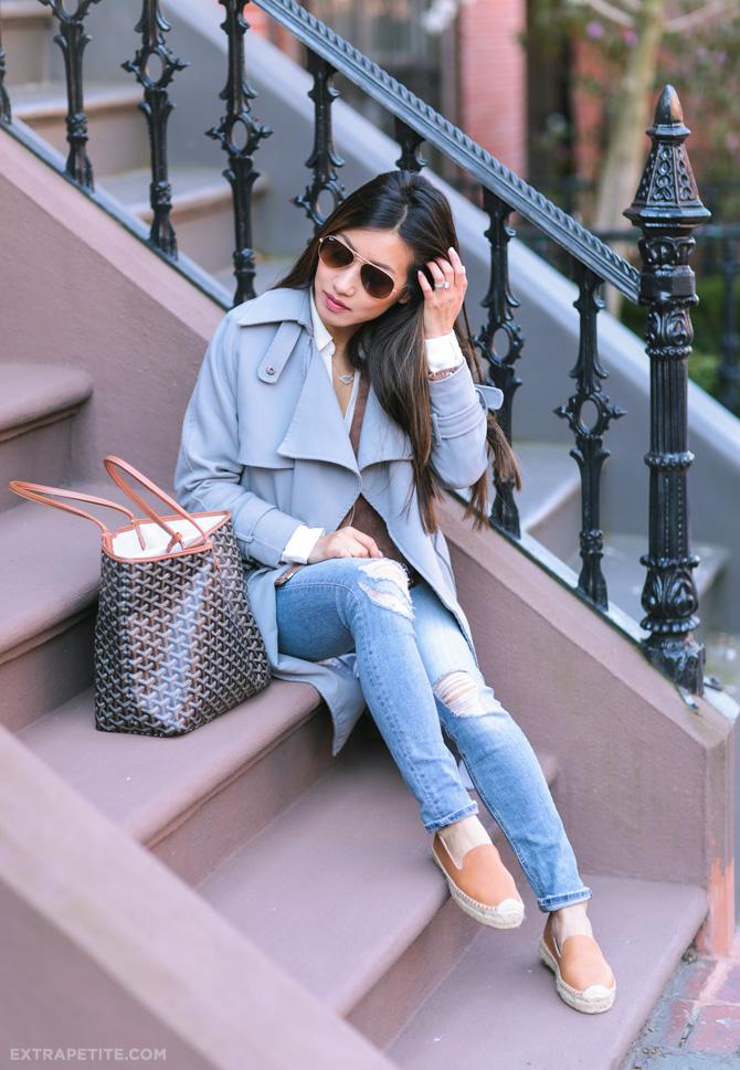 soludos platform rag bone murray jeans goyard tote petite outfit