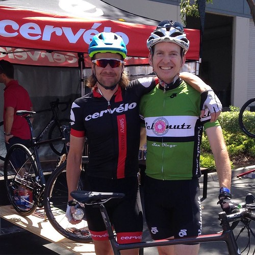 Post ride photo op with Dave Zabriskie. Thanks @cervelocycles for the bike and @dzabriskie for the ride!