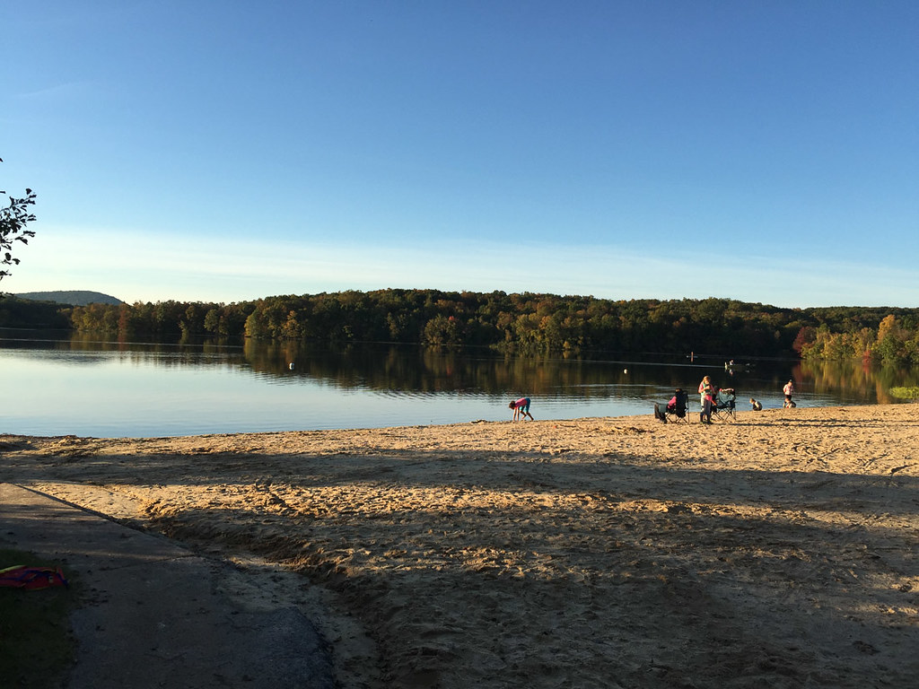 Beach at Gifford Pinchot State Park campsite