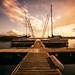 sailing in the sundown