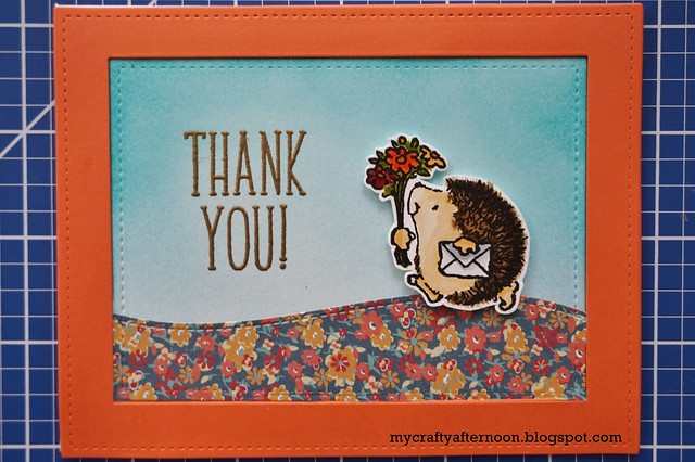 Thank You Card Series - Penny Black Hedgehog