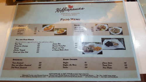 Food Menu | Koffie Pauze Opens Its New Home at 100 Roxas Dormitory - Davao Food Trips .com