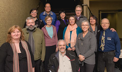 CHF BC's new board for 2015-16 (L to R) back row: Yuri Artibise, Eddie Sabile, Cassia Kantrow, David Lach; middle row: Thomas Robson, Erin Gilchrist, Larisa Gorodetsky, Amanda Skillin; front row: Lorien Quattrocchi, Charles Sandor, Patty Shaw, Arthur Farquharson.